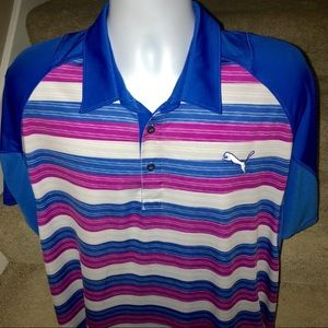 *Puma* moisture wicking men's golf polo shirt - XL
